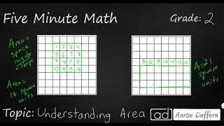 2nd Grade Math Understanding Area