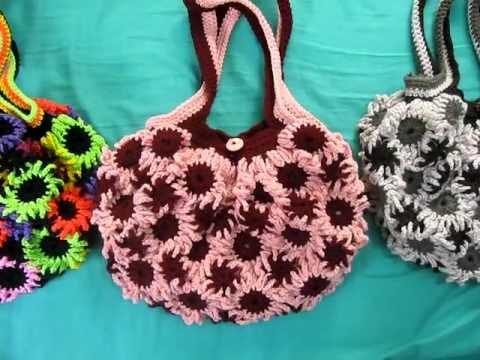 Crochet Flower Purse 6 - YouTube