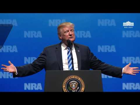 President Trump Gives Remarks at the National Riffle Association Leadership Forum