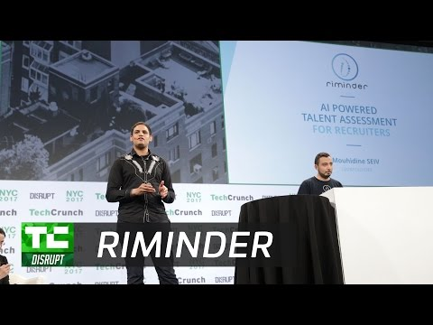 Riminder uses machine learning to recruit better | Startup Battlefield Disrupt NY 2017