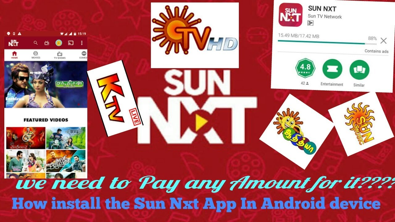 How to install the SunNxt app in your Android device in the easier way