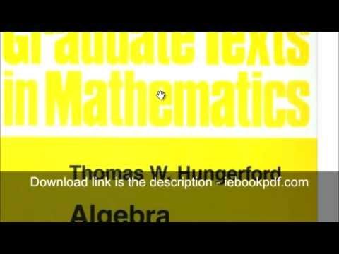 Download Algebra Graduate Texts In Mathematics - PDF Ebook Epub