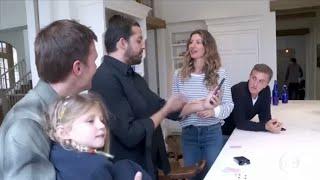 gisele bündchen mostra sua mansão para luciano huck
