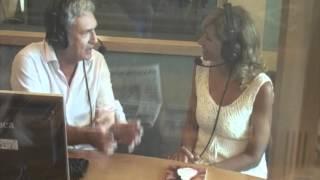 Intervista a Marina Di Guardo durante la trasmissione