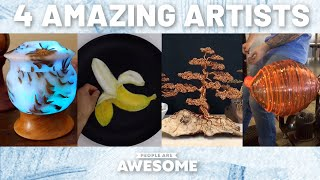 Glass Blowing, 3D Paintings & Wire Sculptures | Timelapse Tutorials