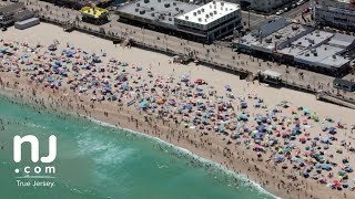 Jersey Shore from air on Independence Day