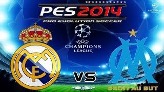 PES 2014 UEFA Champions League Real Madrid vs Olympique de Marseille Knockout round