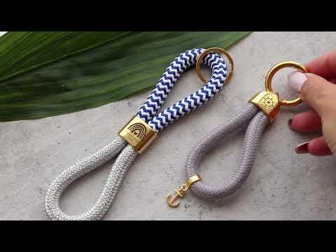 DIY de joyería ♡: Llaveros DQ Mix&Match con cordón estilo marino