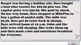 Short English Stories  - Kısa İngilizce Hikayeler - Sara Went Shopping