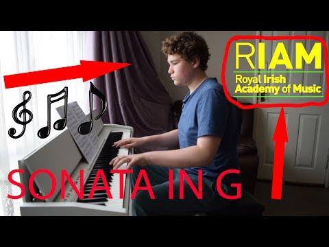 SONATA IN G   ROYAL IRISH ACADEMY OF MUSIC GRADE 6 2015-2018