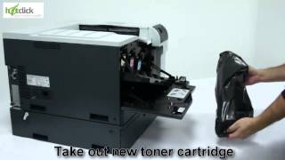 HP Color Laser Jet CP5525 Toner Cartridge Replacement - user guide CE740A,1,2,3(, 2014-07-04T08:08:43.000Z)