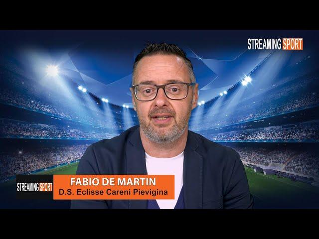 Il D.S. dell' Eclisse Careni Pievigina Fabio De Martin a Streamingsport martedì 4 maggio 2021