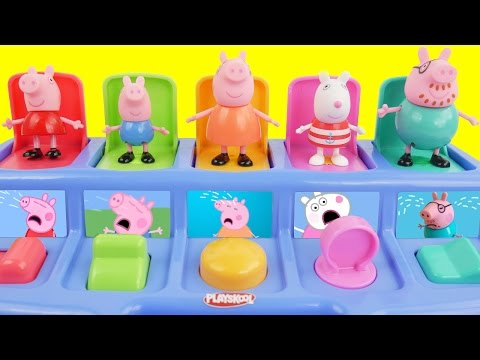Pop up toys and peppa pig figures