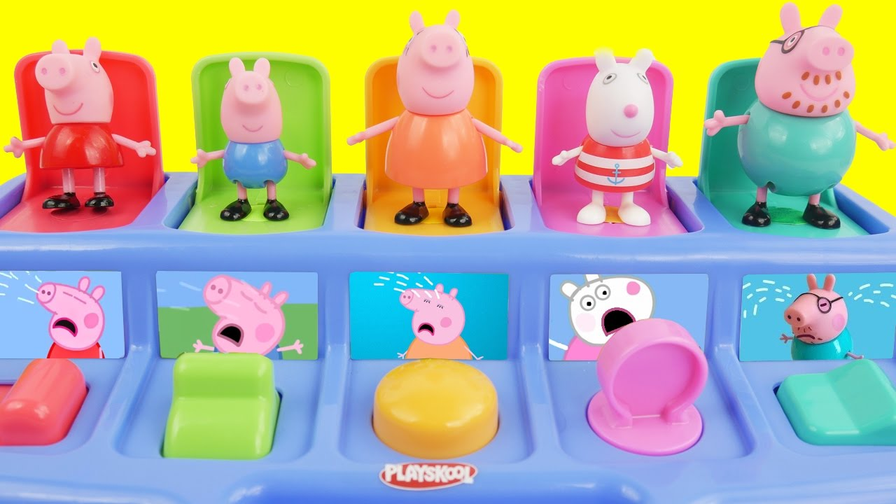 Pop up toys and peppa pig figures - YouTube