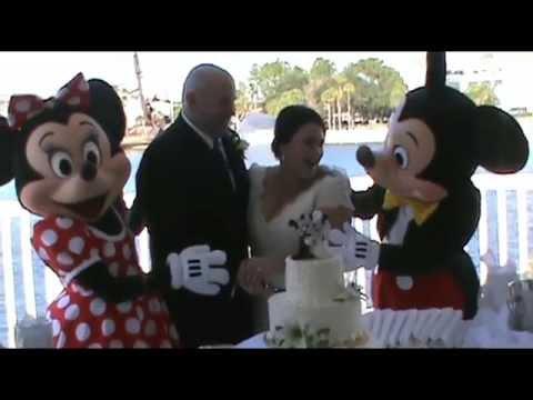 Mickey and Minnie Mouse Crash DISNEY WEDDING Reception - WDW ...