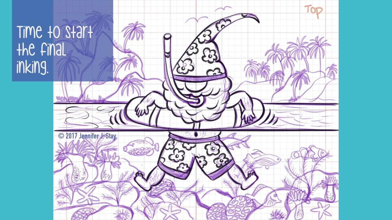 Speed Draw - Fun Gnome Coloring Page with iPad Pro and ...