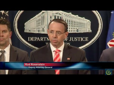 Dept. Of Justice News Conference With Rod Rosenstein