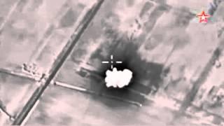 Кадры бомбежки опорного пункта ИГИЛ авиацией РФ появились в Сети