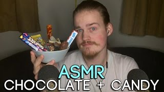 ASMR - Eating Chocolate and Other Candy (Ear To Ear) (Whisper)