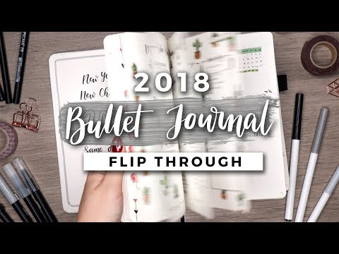 My 2018 Bullet Journal Flip Through | A YEAR IN MY JOURNAL