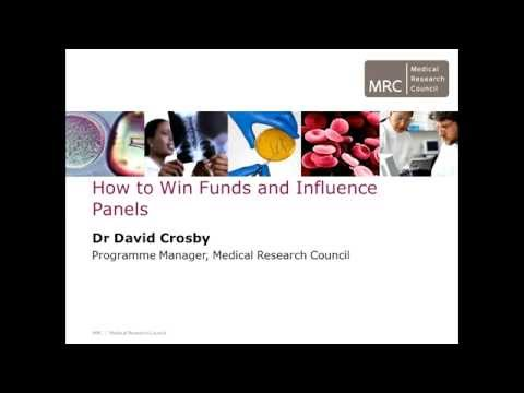 How to win funds and influence panels