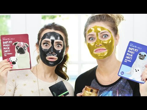 Thumbnail: TRYING DIFFERENT FACE MASKS w/ iJustine!