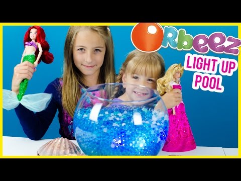 ORBEEZ ARIEL'S LIGHT UP POOL WITH GIANT ORBEEZ, TREASURE & AURORA! HOW TO MAKE IT! PLP TV