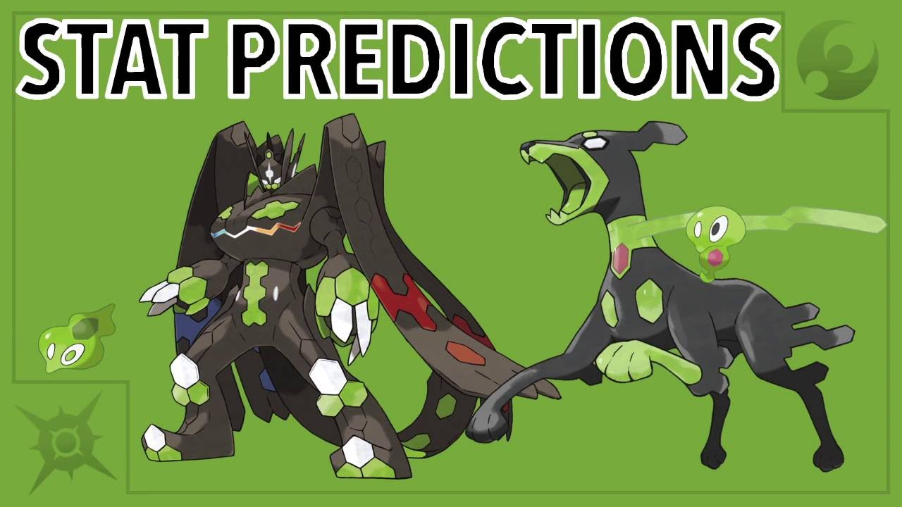 Zygarde Forme Stat Predictions - Pokémon Sun and Moon - YouTube