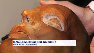 [Enchères]  un masque en cire de l'empreinte du visage de Napoléon 1er