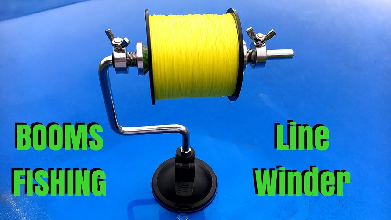 Booms fishing line winder youtube for Fishing line winder machine