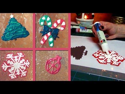 DIY Christmas window decorations - YouTube