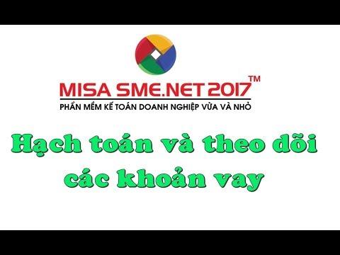 Hướng Dẫn Hạch Toán Và Theo Dõi Các Khoản Vay Trên MISA SME.NET 2017 | Học MISA Online