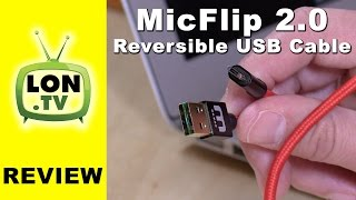 MicFlip 2.0 - Fully Reversible (both ends) Micro USB 2.0 Cable by Winnergear