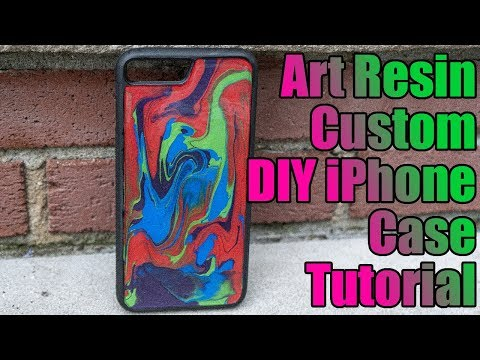 How to make Art Resin Phone Case - Marble Multicolor Art DIY