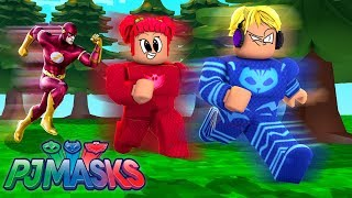 CAT BOY, CORUJITA AND LAGARTIXO HAVE BECOME FASTER THAN FLASH HERO IN ROBLOX-PJ MASKS