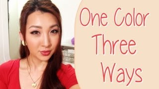 Minimal Product Makeup Tutorial [One Color - Three Ways]