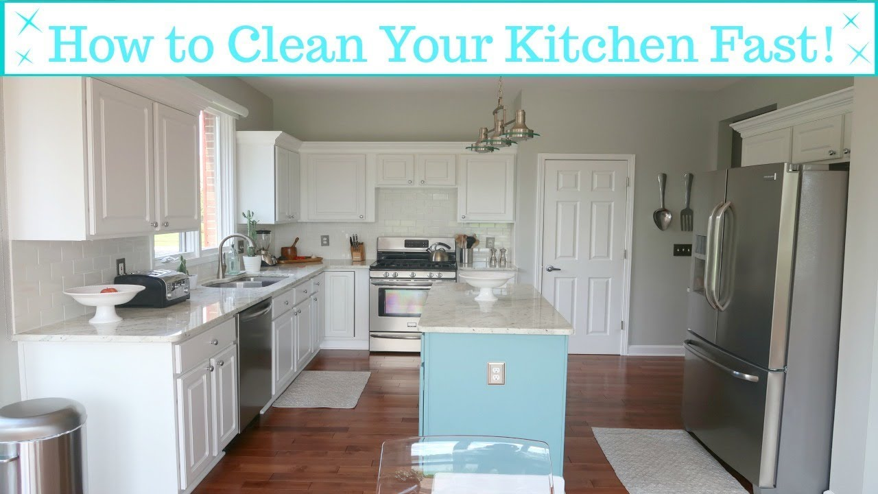How To Clean Your Kitchen Fast Sd Cleaning Motivation
