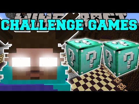 Minecraft: FURBY HEROBRINE CHALLENGE GAMES - Lucky Block Mod - Modded Mini-Game