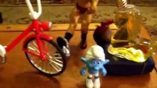 Big cock helps  guy guy Creampie to ride his bike