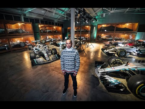 Lewis Hamilton Reunited with his Six F1 Championship Cars