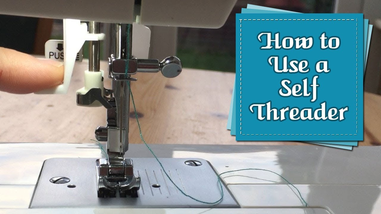 how to use the self threader for your singer tradition sewing