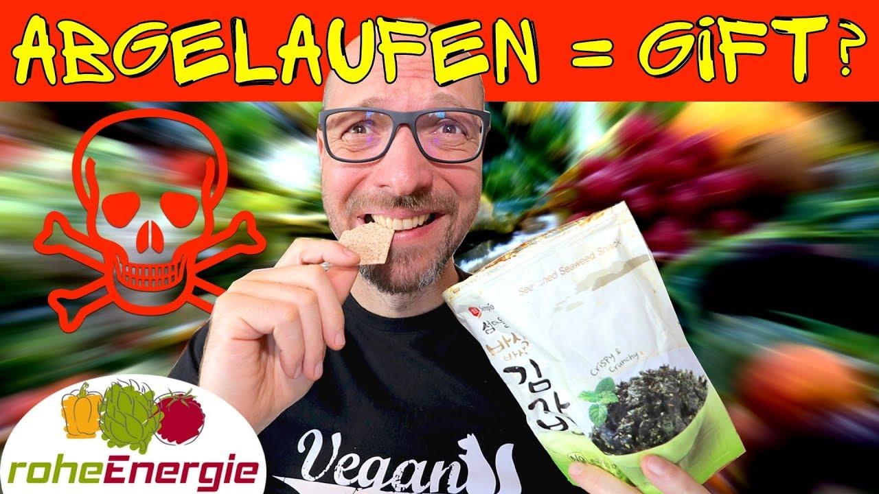 Veganer isst ABGELAUFENE Lebensmittel und...