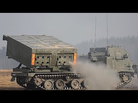 Multiple Launch Rocket System IN ACTION! British Army LIVE-FIRE TRAINING exercise DYNAMIC FRONT!