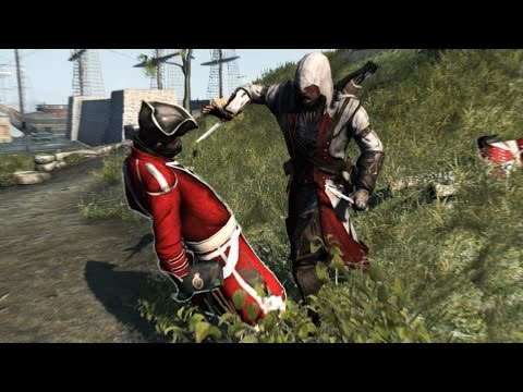 Assassin's Creed 3 Jamestown Outfit (Red & White) Stone Tomahawk, Hidden Blade Finsihing Moves