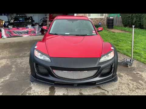 Series 2 Rx8 bumper removal and widebody install. Shes Mean!