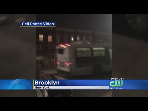 Empty Bus Goes Out Of Control In New York