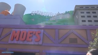 Downtown Springfield Tour Vlog (HD) The Simpsons Universal Studios Hollywood