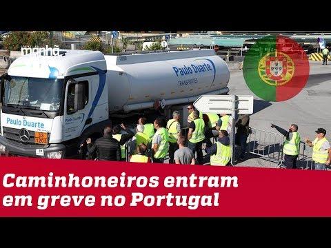 Greve de caminhoneiros em Portugal faz população procurar combustível na Espanha