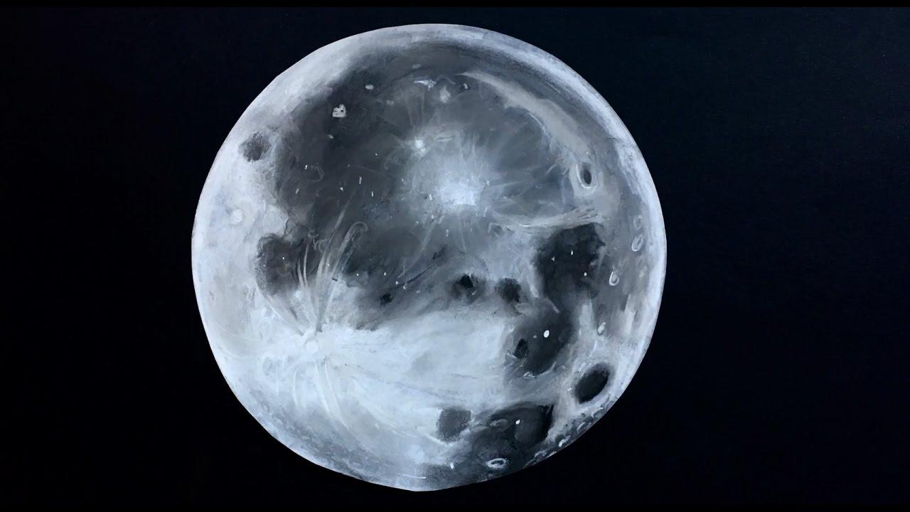 How to Draw the Moon  Cmo Dibujar La Luna Llena en 3D  YouTube