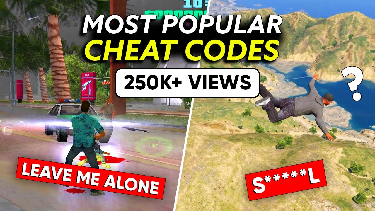 10 Most Popular CHEAT CODES Gamers Love to use in GTA Series